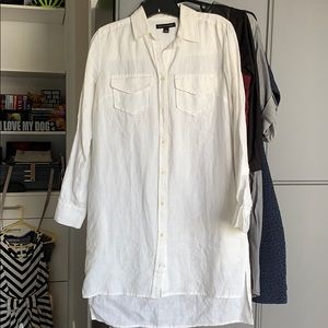 Banana Republic white linen shirt dress - size 0